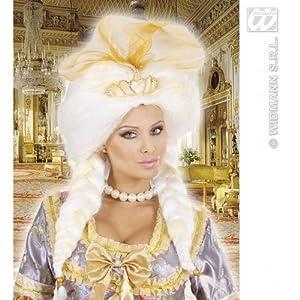 WIDMANN Venezia Barock Damen PerÃ?Œcke weiÃ?? mit Diadem und Tuch Fantasy Queen