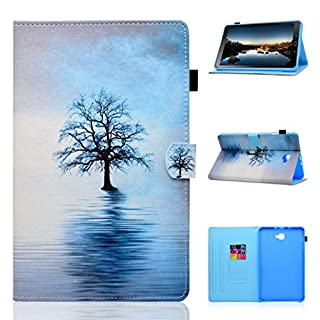 Galaxy Tab A 10.1 Folio Case, Asnlove Leather Case with Stand Slim Protective Cover with Stand Function and Auto sleep/wake up credit card slots For Samsung Galaxy Tab A 10.1 inch T580/T585 Tablet