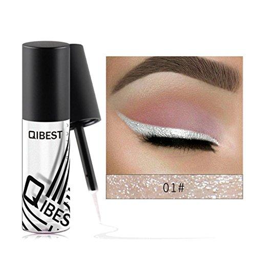 Eyeliner Wasserfest, Huihong 10 Farbe Metallic Glänzend Rauchigen Augen Make-up Eyeshadow Eyeliner...