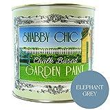 Elefante grigio, stile Shabby Chic, a base di gesso-Vernice da giardino, 1 l