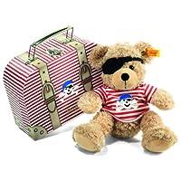 Steiff Fynn Teddy Bear Pirate in Suitcase (Beige)