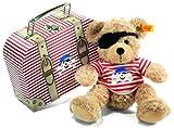 Steiff 111266 - TeddybärFynn Pirat im Koffer, 28 cm, beige