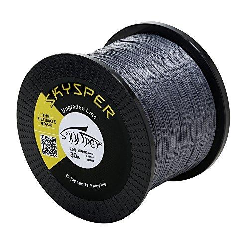 Skysper linea da pesca filo da pesca 1000m pe 4 strands super strong resistente all'abrasione filo trecciato professionale 60lb grigio
