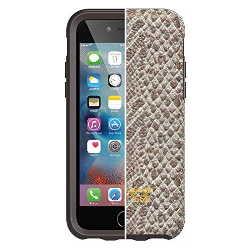 OtterBox Strada sturzsichere Folio Leder Schutzhülle, Schwarz + Alpha Glass Display Schutzglas für Apple iPhone 6 / 6s Beige