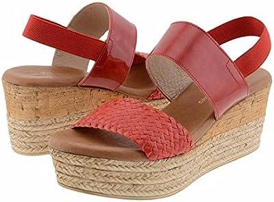 Sandalias piel roja
