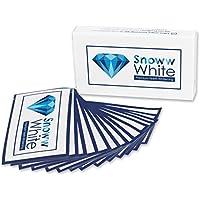 SNOWW WHITE Premium Teeth Whitening ITWS01, Bleaching White Stripes - Weiße Zähne In 14 Tagen - Zahnschonende Zahnaufhellung - Zweifacher Testsieger - 28 Bleaching Strips