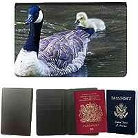 Grand Phone Cases PU Supporto Di Cuoio Del Passaporto Con Slot per Schede // M00141021 Canada Goose Goose Chicks Animaux // Universal Passport Leather Cover