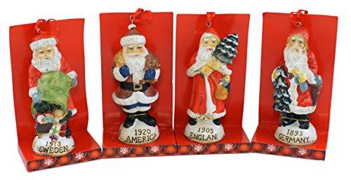 SJL Company Antik Santa Claus Ornament 4-Teiliges Set