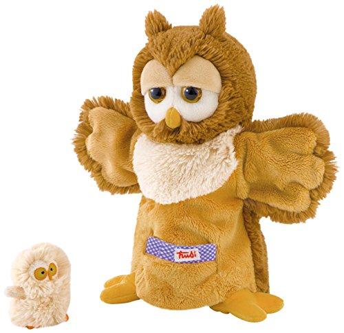 Trudi - Marioneta de peluche búho con bebé (29995)