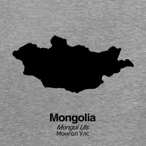 Mongolia / Mongolei Silhouette - Damen T-Shirt - 14 Farben Sportlich Grau