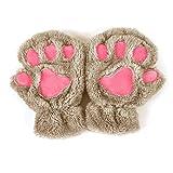Kalttoy - Guantes de invierno para mujer, diseño de huellas de gato