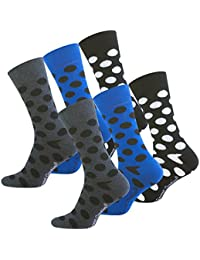 "6 paire de Hommes Trendy Chaussettes Casual ""Multicolor - DOTS"" originale Vincent Creation®"