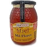 Miel de Mil Flores - 1kg - Producida en España - Alta Calidad, tradicional & 100% pura - Aroma Floral y Sabor Rico y Dulce - Amplia variedad de Deliciosos Sabores