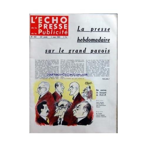 ECHO DE LA PRESSE DE LA PUBLICITE ET DES RELATIONS PUBLIQUES (L') [No 522] du 05/03/1965