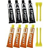 COM-FOUR® 80ml 2-Komponenten Epoxidharz-Kleber mit 4x Kunststoffspachtel, 40ml Harz und 40ml...