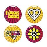 NEU Buttons Hippie 3 cm, 4 Stück