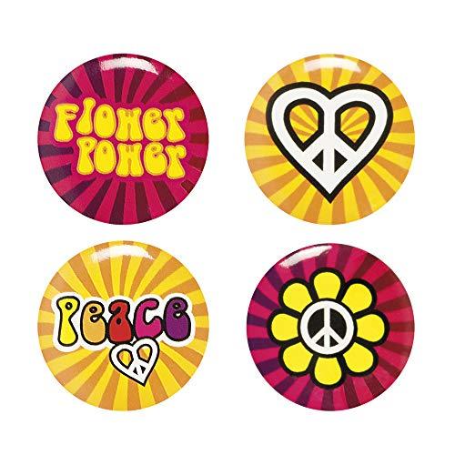 Preisvergleich Produktbild NEU Buttons Hippie 3 cm,  4 Stück