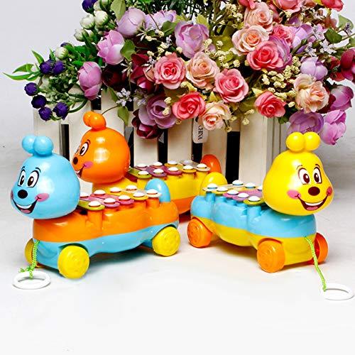 SEGRJ Baby Kids Xylophon mit 5 Noten zum Anziehen, Musik-Entwicklung, bunt, Geschenk, zufällige Farbe Zufällige Farbauswahl