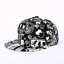 Rawdah Visera ajustable Moda Unisex gorra snapback sombrero de hip hop (Nergo)