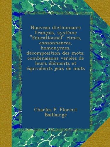 Nouveau dictionnaire français, système