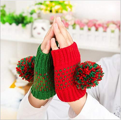 ZHANGYUGEGE Niedlich Mode Frauen Office Eingabe halbe Finger Gestrickte warme Handschuhe Winter Handschuhe für Damen Handschuhe, C (Handschuhe Eingabe Von Warm)