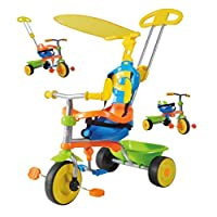 Guaranteed4Less Childrens Pedal Bike Trike Tricycle Kids 3-in-1 Push Along Buggy Parents Control