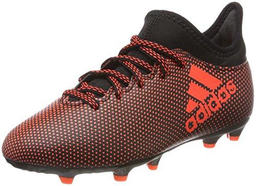 adidas X 17.3 FG J, Chaussures de Football garçon, Noir (Negbas/Rojsol/Narsol), 38 EU