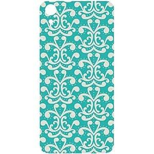 Casotec Blue Pattern Design Hard Back Case Cover for HTC Desire 826