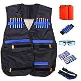 Veste tactique pour enfants Nerf Gun série N-strike Elite (avec 20 recharges Dart + Lunettes de protection lunettes + 2 Pcs 6-dart Quick Reload Clip + ceinture + sangle)
