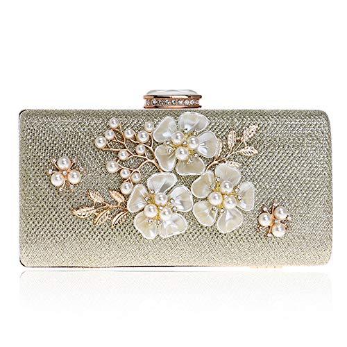 Ljleey-bag borsetta da sera da donna, pochette con fiori colorati, borsetta da sera in raso, pochette da sera a