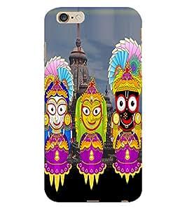 Fuson 3D Printed Lord Radha Krishna Designer Back Case Cover for Apple iPhone 6 Plus - D514