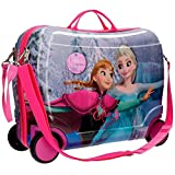 DISNEY Frozen Magic - Trolley Rigido Cavalcabile da Viaggio con Quattro Ruote