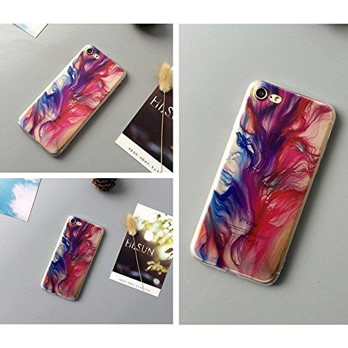 """Anti-scratch Case TPU Silikon Schutzhülle Sunroyal Handyhülle durchsichtig für iPhone 6 Plus /6S Plus 5.5"""" Ultra Dünn Flex Hülle stoßdämpfende kristallklar Leichte Weichem Aquarell Tasche Schutz Etui  C01"""