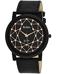 RELISH RE-S801BB SLIM Black Dial Analog Watch For Mens & Boys