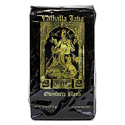 Valhalla Java Ground Coffee by Death Wish Coffee Company, Fair Trade and Organic 12 ounce bag from Death Wish Coffee Company