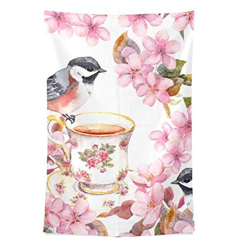 Tier wie Tee Kultur Wandteppich Wandbehang Cool Post Print für Wohnheim Home Wohnzimmer Schlafzimmer Tagesdecke Picknick Bettlaken 80 X 60 Zoll -