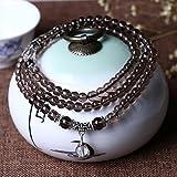 K&C perle di quarzo 6 millimetri collana di preghiera buddista bracciale di cristallo naturale Mala
