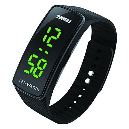 Reloj deportivo digital para niños, impermeable, con alarma, reloj de pulsera electrónico para exteriores...