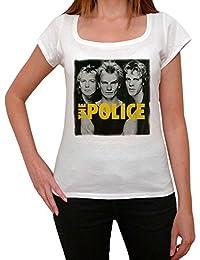 The Police Group, tee shirt femme, imprimé célébrité,Blanc, t shirt femme,cadeau