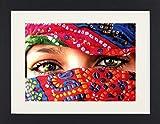 1art1 113620 Frauen - Arabische Augen Gerahmtes Poster Für Fans und Sammler 40 x 30 cm