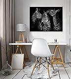 FORWALL Bilder Zebra O1 (100cm. x 75cm.) Leinwandbilder Wandbild AMFPP11761O1