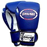 Enfants gants de boxe sparring, Junior MMA muay thai gants de kickboxing poinçonnage des mitaines de formation de sac 4 onces par Farabi (bleu)