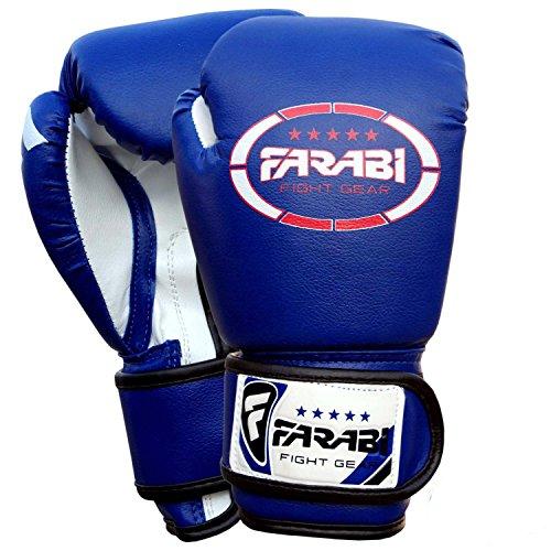 Kids boxing junior Boxhandschuhe, mma, muay thai, Kickboxen, Handschuhe, Boxsack training Boxhandschuhe 4 Farabi oz Blau blau 4Oz