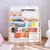AUED Kids Bookshelf Storage Cubes, Children Wooden Book Rack Storage Bookshelf Daily Activity Closet Organizer, for Home Bedroom White