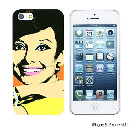 OBiDi - Celebrity Star Hard Back Case / Housse pour Apple iPhone SE / Apple iPhone 5S / 5 - Beautiful Queen Elizabeth II Audrey Hepburn Pop Art