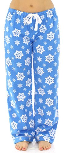 PajamaMania -  Pantaloni  - Donna Blau mit Schneeflocken