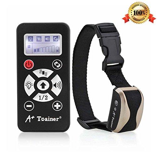 Collar Adiestramiento para Perros o Mascotas con Modos de Vibración Sonidos y Auto Collar RC Control Remoto Antiladridos - Color Champagne