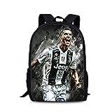 ULIIM Sac D'école pour Enfant Cristiano Ronaldo Schoolbags Fashion pour Enfants CR7 Bookbag Cartables pour Garçon Filles Voyage