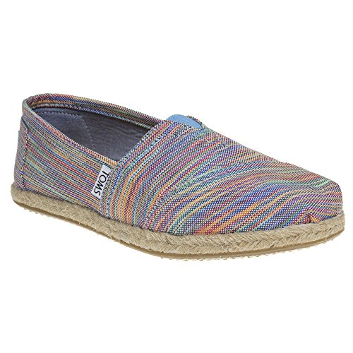 Toms Seasonal Classic Espadrilles Blue Aster Multi Space Dye - 6 UK