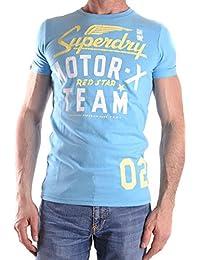 Superdry Herren MCBI371014O Hellblau Baumwolle T-Shirt